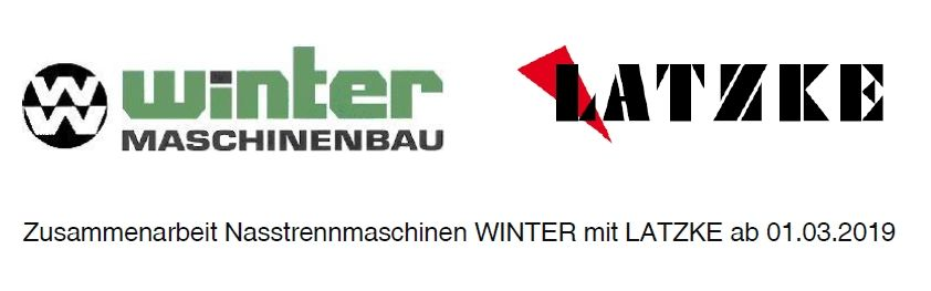 Cooperation between WINTER wet cutting machines and LATZKE as of 01.03.2019